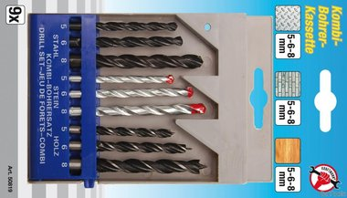 9-piece Combined Drill Set