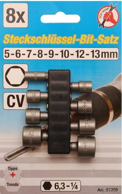 8-piece Nut Driver Set, 5 - 13 mm