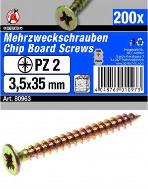 Multi Purpose Screws 3.5 x 35 mm, 200 pieces