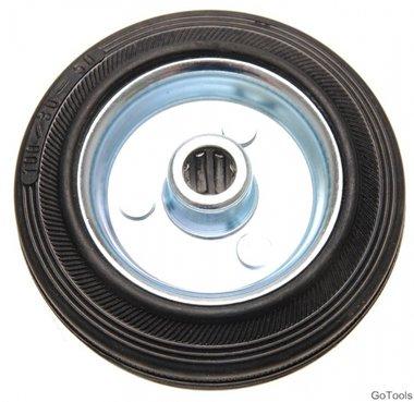100 mm Solid Rubber Wheel, Steel Rim