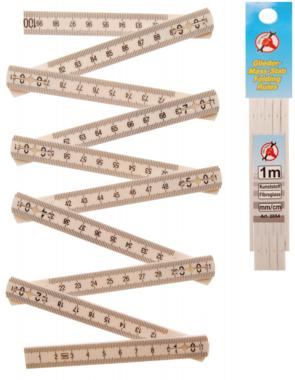 Folding Rule, 10 Segments, Length 1 m