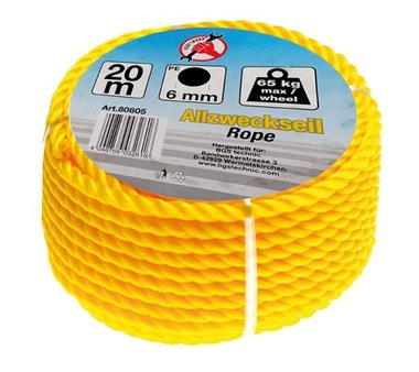 All-Purpose Rope 20 m x 6 mm