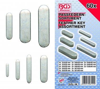 60-piece Feather Key Assortment