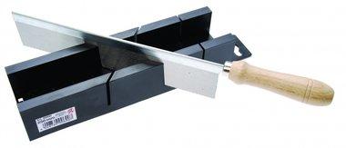 Miter box with slitting Saw