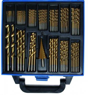 119-piece Twist & Step Drill Set HSS, Titanium Coated, 1 - 10 mm