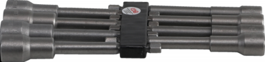 Socket Set, extra long, with 6-pt. Drill Shaft, 6 - 13 mm