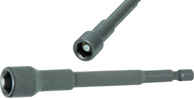 Socket, extra long, with 6-pt. Drill Shaft, 9 mm