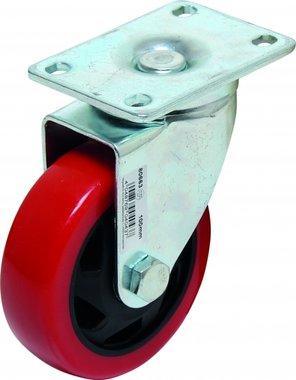 Castor, red/black, 100 mm