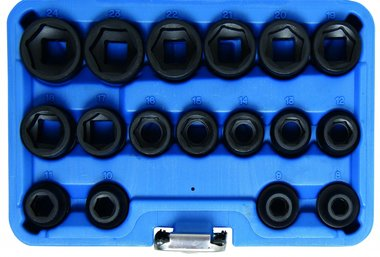 17-piece 1/2 Impact Socket Set, extra flat