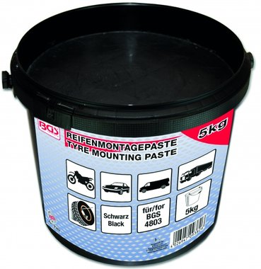 Tire Mounting Paste, black, 5 kg bucket