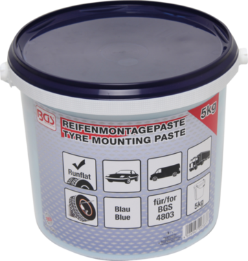 Tire Mounting Paste, blue for run flat tires, 5 kg bucket