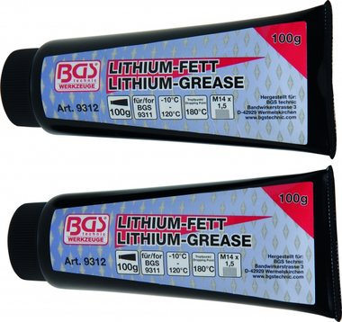 Lithium Grease for Grease Gun BGS 9311, 2 Tubes