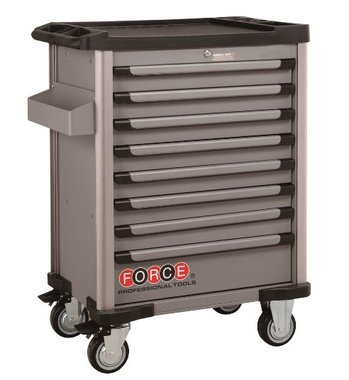 Gray 8-drawer trolley with 415pcs tools