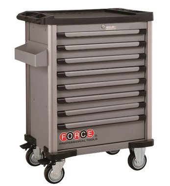 Gray 8-drawer trolleys with 512 tools