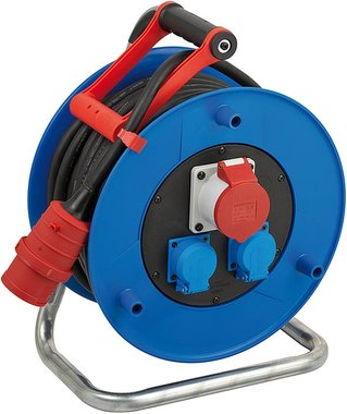 Guarantor CEE 1 IP44 cable reel for industry/construction 20m H07RN-F 5G2,5