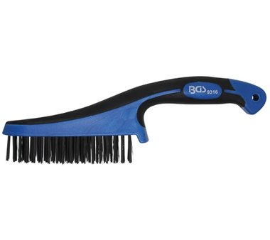 Steel Wire Brush with Plastic Handle, 282 mm