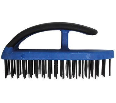 Steel Wire Brush with Plastic Handle, 172 mm