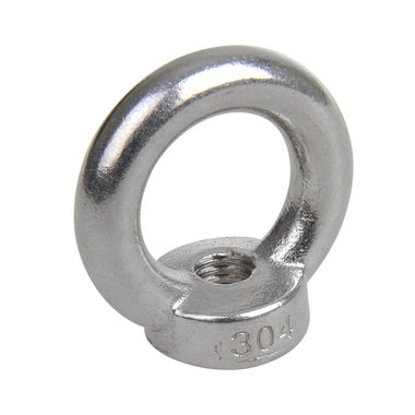 Ring nut M10, A4 RVS AISI 316