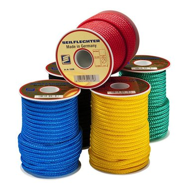 Surf leash, 5mm, Polypropylene, 20m on spool, braided, assorted, 320 daN