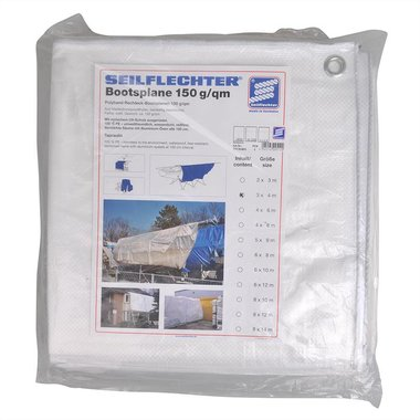 Protection cover 3x4m, white