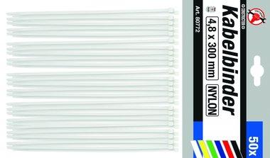 50-piece Cable Tie Set, 4.8 x 300 mm