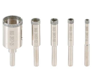Diamond core drill bit set  5 pcs.