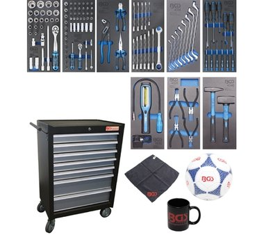 Workshop trolley  7 drawers with 120 tools