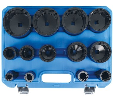 Grooved nut wrench set | Internal pins | KM0 - KM12 | 13 pcs.