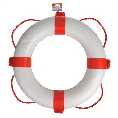 Lifering Ø550mm, white - red