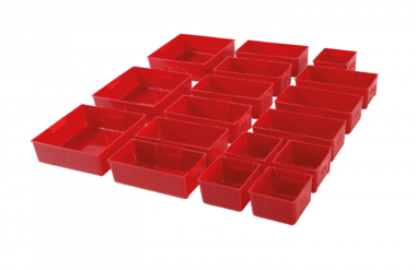 Plastic Strorage Trays for Workshop Trolley 17 pcs.