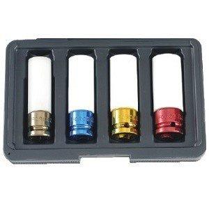 1/2 DR. Wheel nut 6pt. Power pack set 4-piece