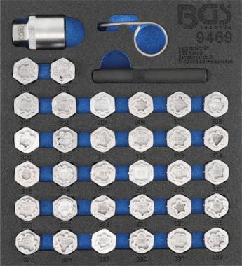 Rim Lock Socket Set for Mercedes  35 pcs.
