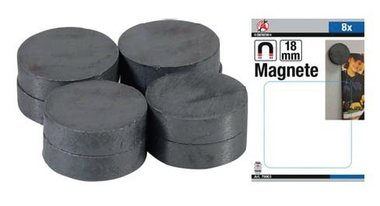 Magnet Set  ceramic  Dia 18 mm  8 pcs.