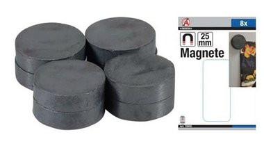 Magnet Set  ceramic  Dia 25 mm  8 pcs.