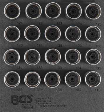 Rim Lock Socket Set for Opel, Vauxhall (Version C)  20 pcs.
