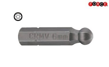 Inbus round head bit 1/4 -25mmL 2,5mm