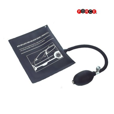 Air inflator for unlock by (vehicle)
