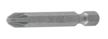 Bit length 50 mm 6.3 mm (1/4) drive Cross slot PZ3