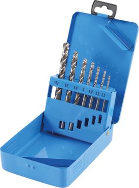 HSS Twist Drill Set Core Hole Sizes Ø 2.5 - 10.2 mm 7 pcs.