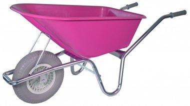 Garden wheelbarrow galvanized frame 100 Liter