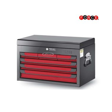 Glory red & black 6-drawer top chest (glossy paint)