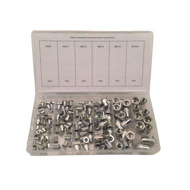 Aluminium Rivet Nuts Assortment 150pc