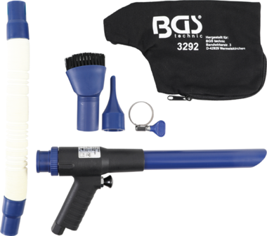 Suction and Air Blow Gun reversible 9 pcs.