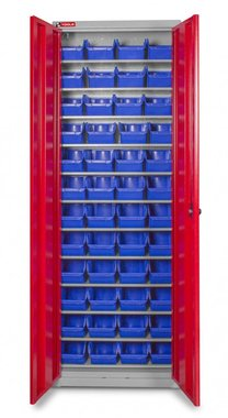 Storage bin cabinet with doors boxes 48 x BOT30
