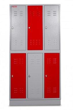 Metal cabinet with 6 doors