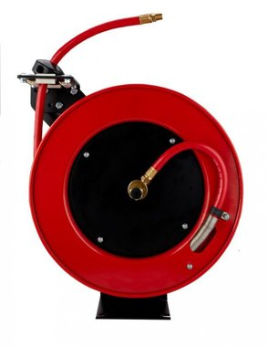 Automatic metal air hose reel pvc 15 m - 10 mm