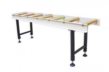 Infeed and outfeed roller table
