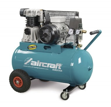 Belt driven oil compressor 2 cyl 10 bar - 100 liters