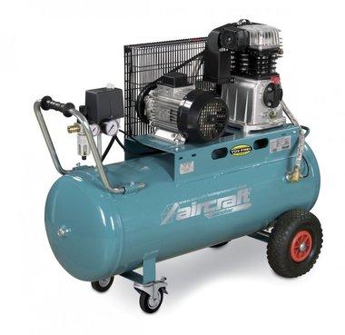 Belt driven oil compressor 10 bar - 100 liters