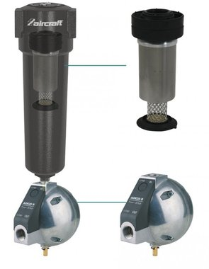 Condensate drain cyclone separator 1/2